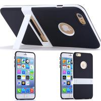 Пластиковый чехол с удобной подставкой для Apple iPhone 6 4.7 / plus 5.5 (04337)