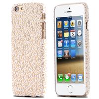 Кожаный чехол с золотыми узорами для Apple iPhone 6 4.7 / plus 5.5 (04701)