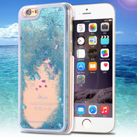 Пластиковый прозрачный чехол с жидкостью сыпучие пески для iPhone 6 4.7 / Plus 5.5 (05112)
